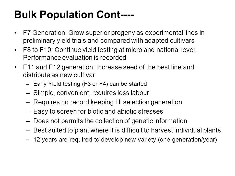 Bulk Population Cont----