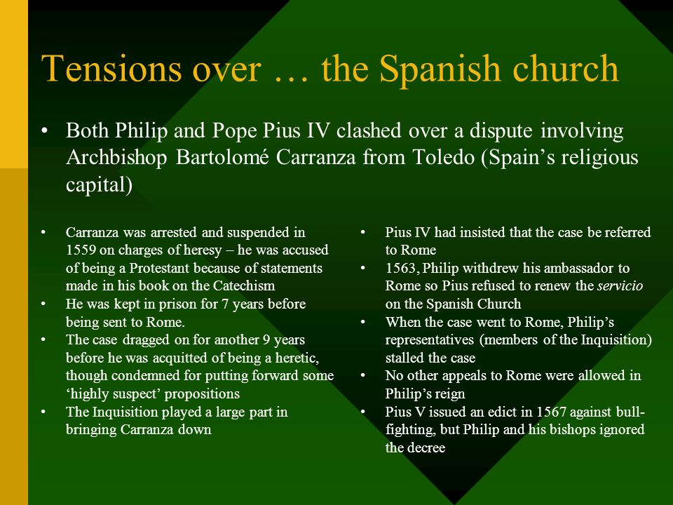 Tensions over … the Spanish church