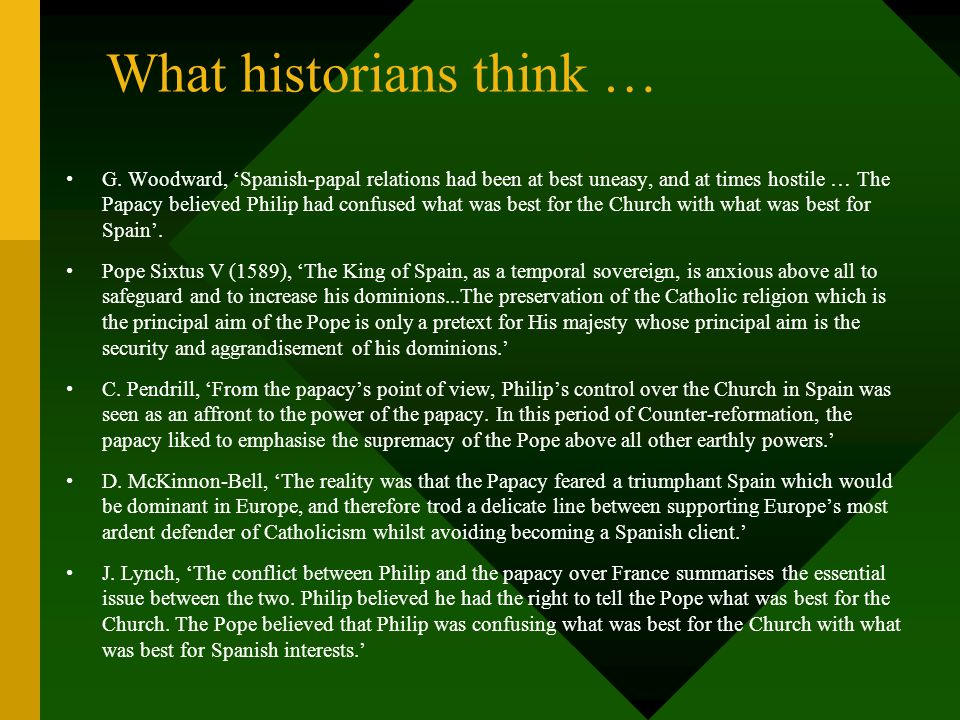 What historians think …