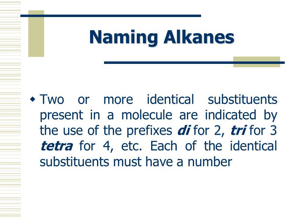 Naming Alkanes
