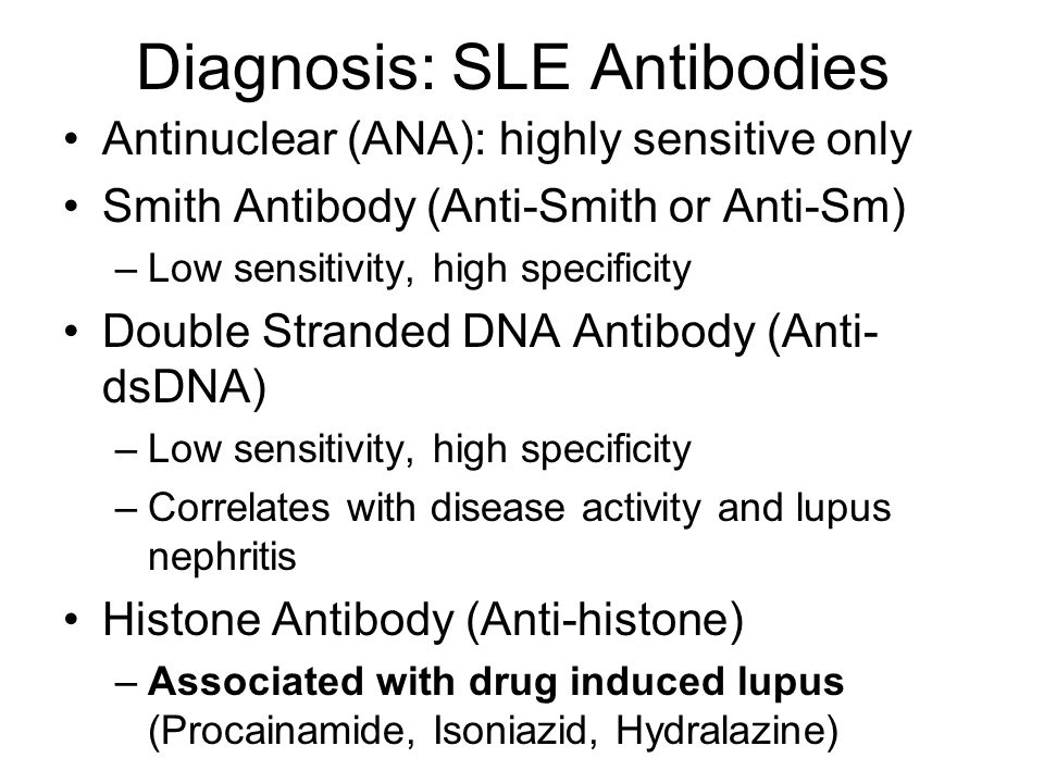 Diagnosis: SLE Antibodies