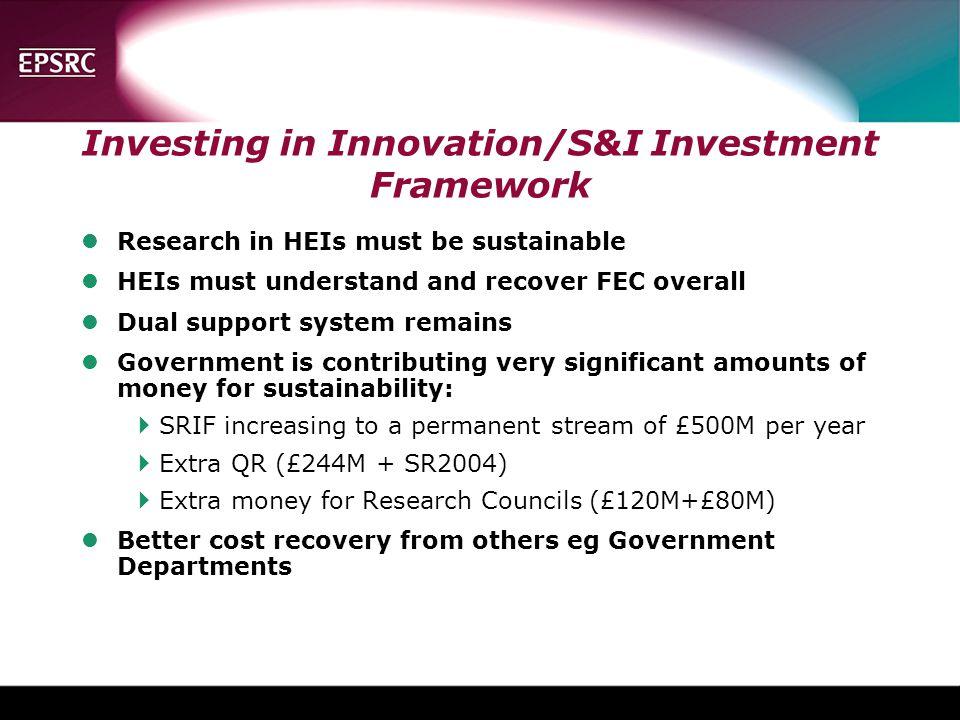 Investing in Innovation/S&I Investment Framework