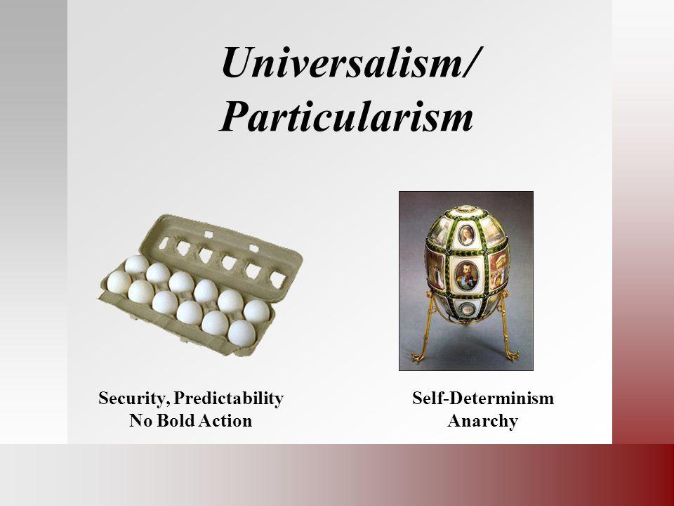 Universalism/ Particularism
