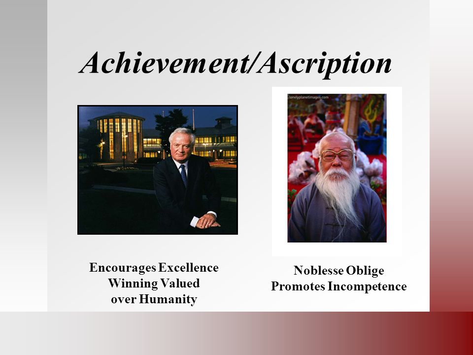 Achievement/Ascription