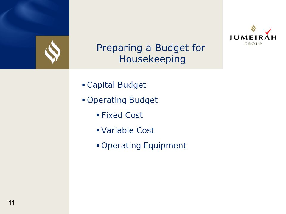 Preparing a Budget for Housekeeping