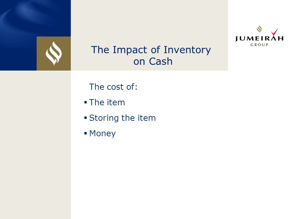 The Impact of Inventory on Cash