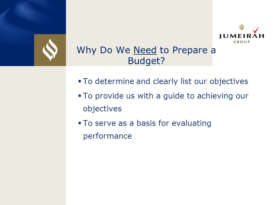 Why Do We Need to Prepare a Budget