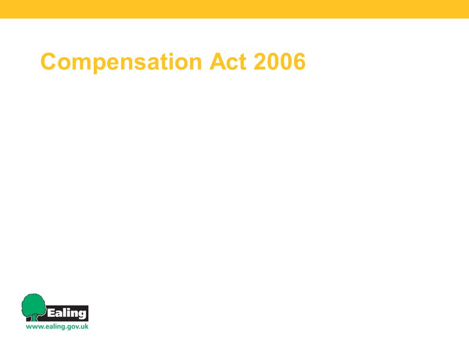 Compensation Act 2006