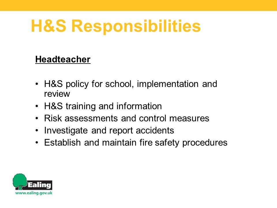 H&S Responsibilities Headteacher