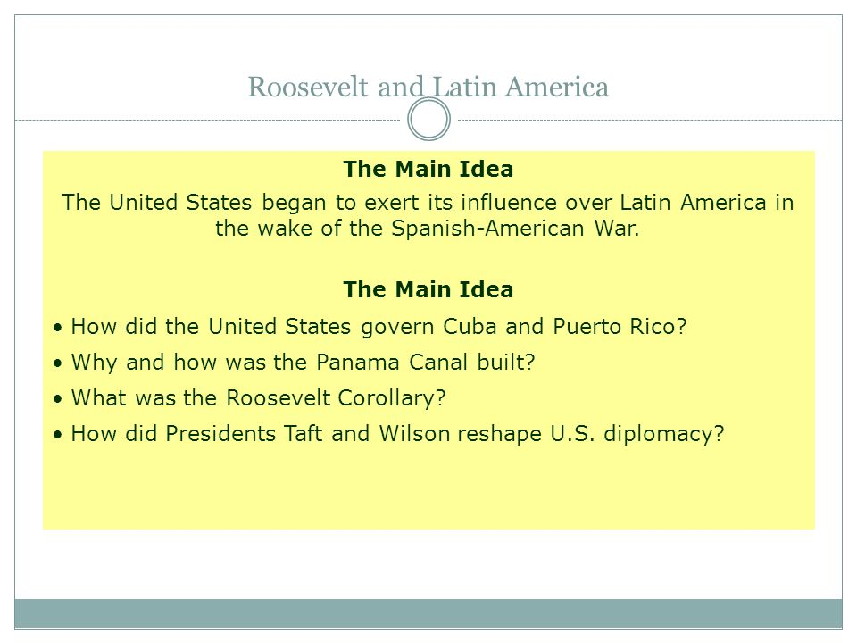 Roosevelt and Latin America