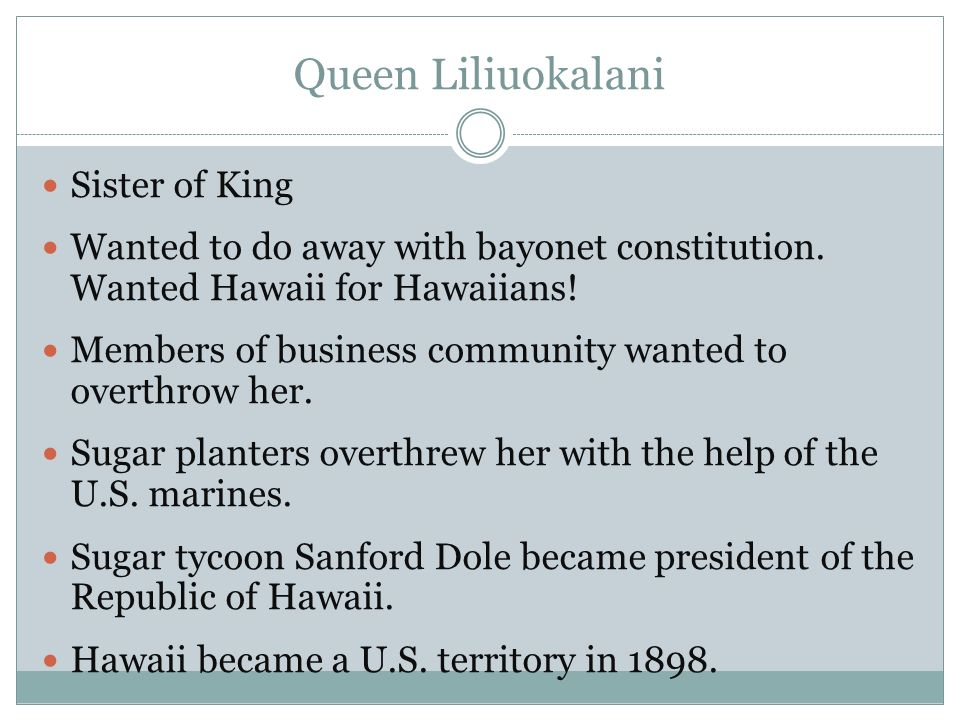 Queen Liliuokalani Sister of King