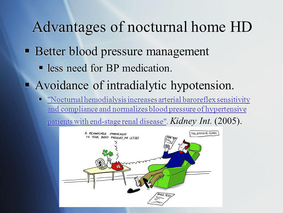 Advantages of nocturnal home HD