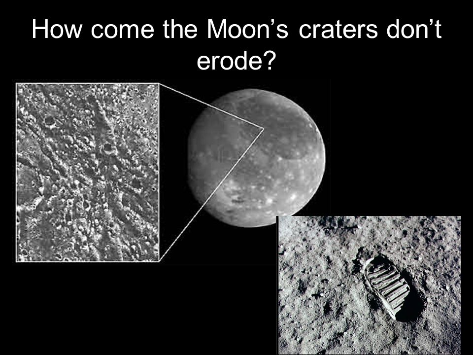 How come the Moon's craters don't erode