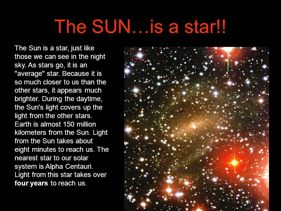 The SUN…is a star!!