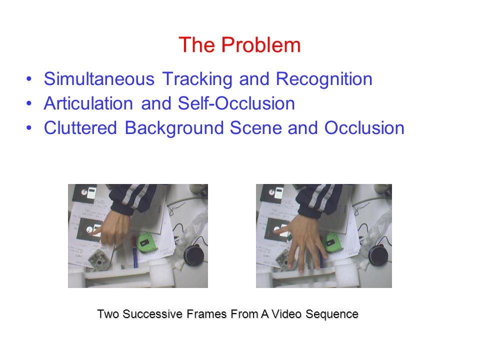 The Problem Simultaneous Tracking and Recognition