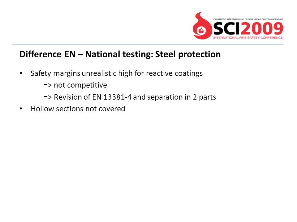Difference EN – National testing: Steel protection