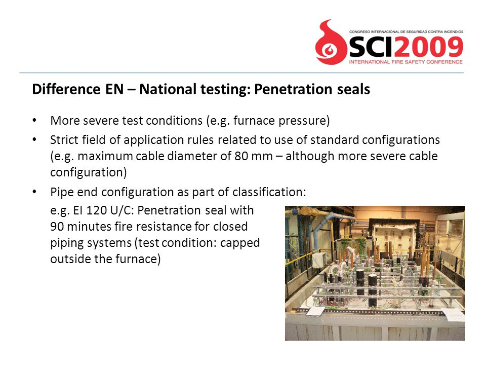 Difference EN – National testing: Penetration seals