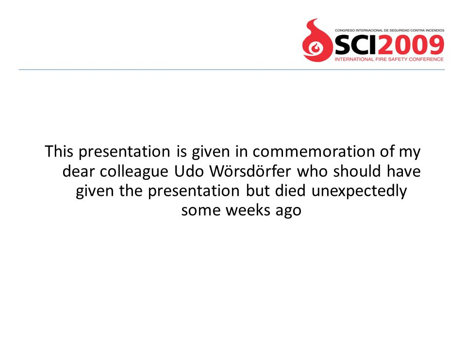 This presentation is given in commemoration of my dear colleague Udo Wörsdörfer who should have given the presentation but died unexpectedly some weeks ago