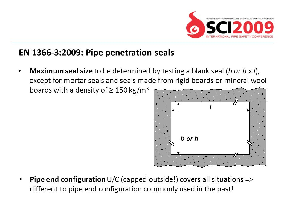 EN 1366-3:2009: Pipe penetration seals
