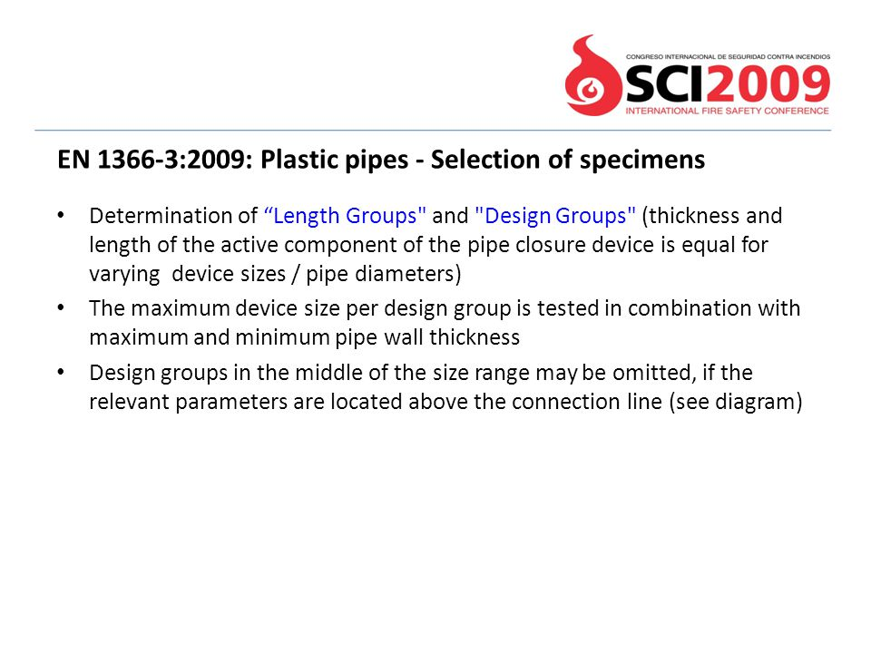 EN 1366-3:2009: Plastic pipes - Selection of specimens