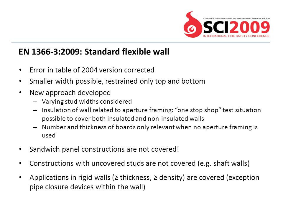 EN 1366-3:2009: Standard flexible wall