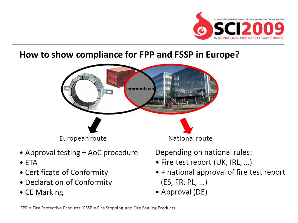 How to show compliance for FPP and FSSP in Europe