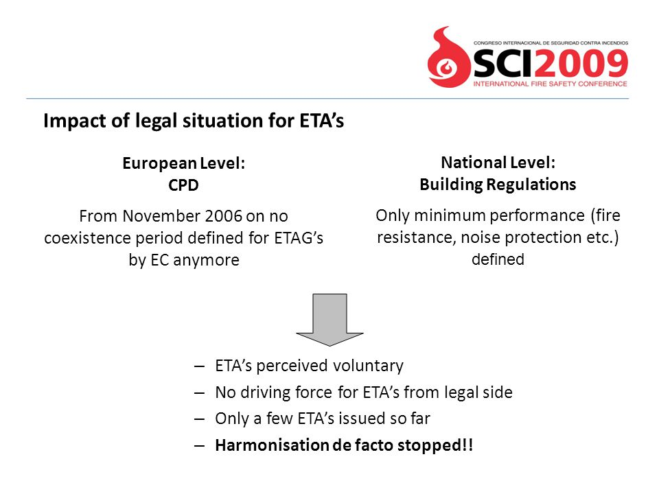 Impact of legal situation for ETA's