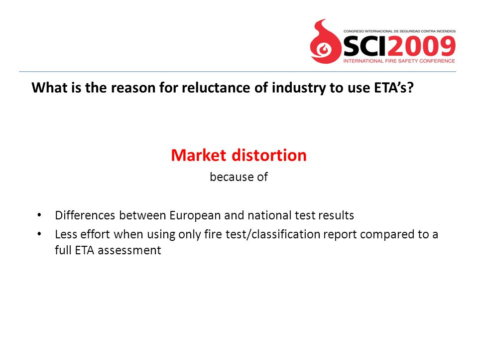 What is the reason for reluctance of industry to use ETA's