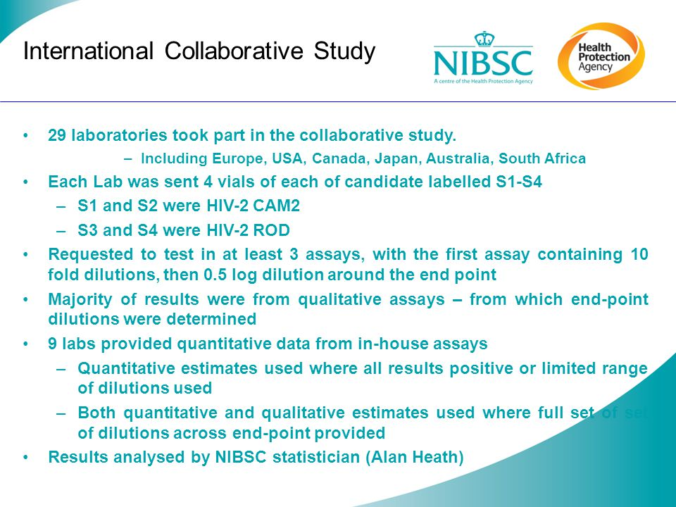 International Collaborative Study