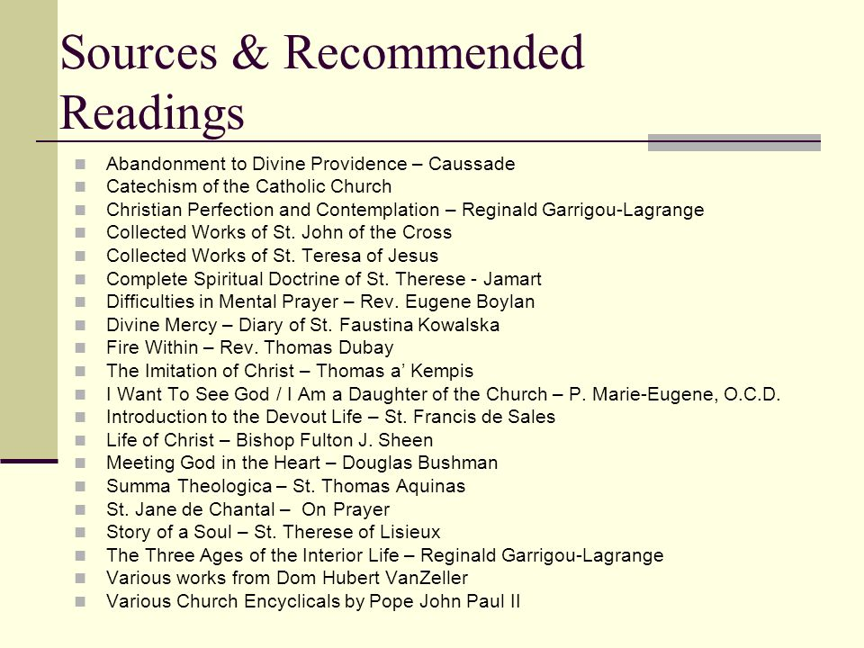Sources & Recommended Readings