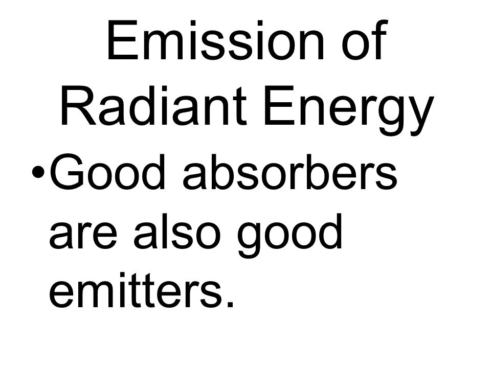 Emission of Radiant Energy