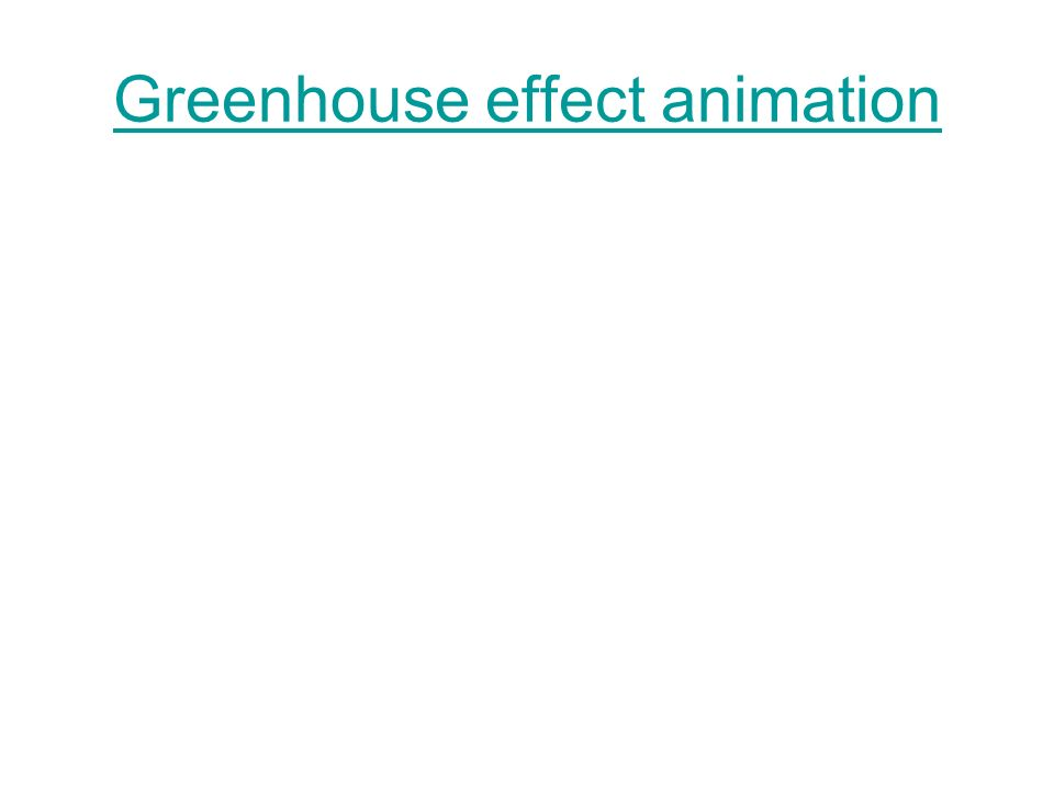 Greenhouse effect animation