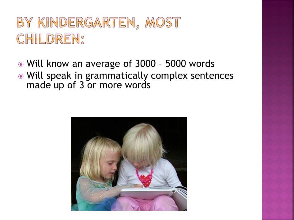 By Kindergarten, most children: