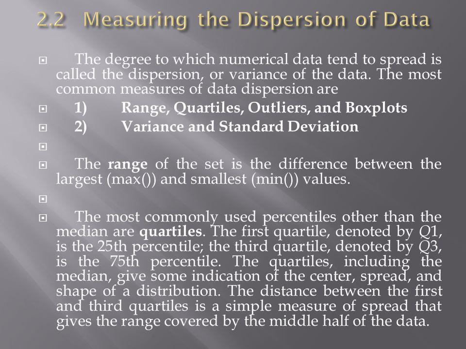 2.2 Measuring the Dispersion of Data