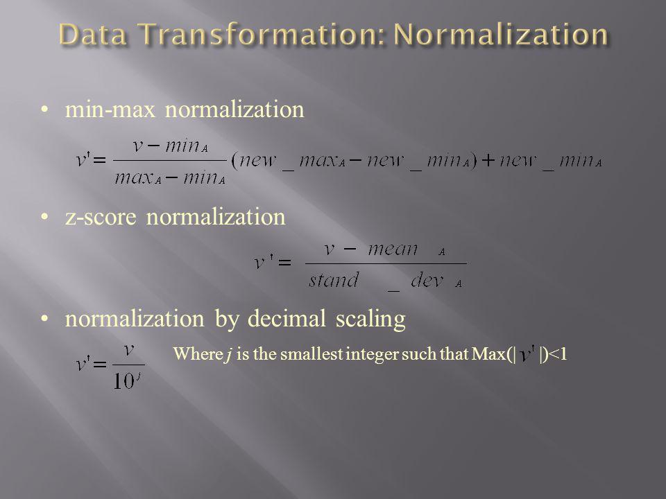 Data Transformation: Normalization