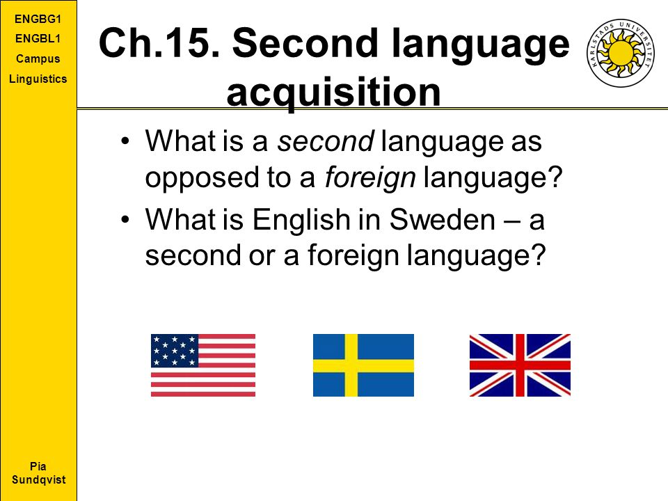 Ch.15. Second language acquisition