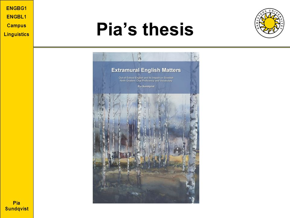 Pia's thesis