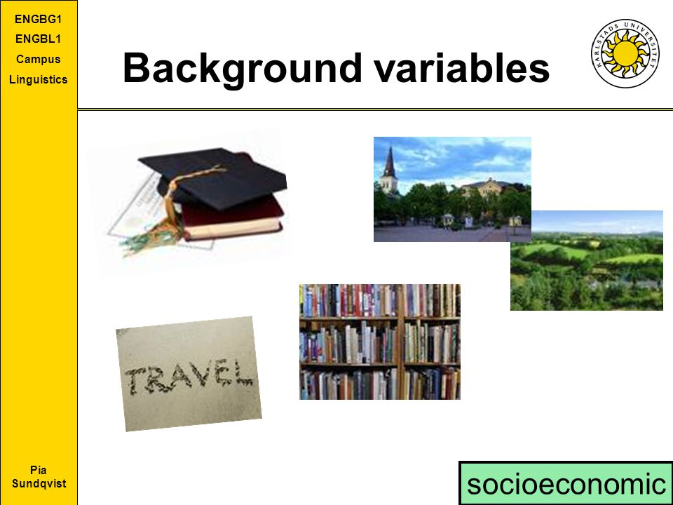 Background variables socioeconomic