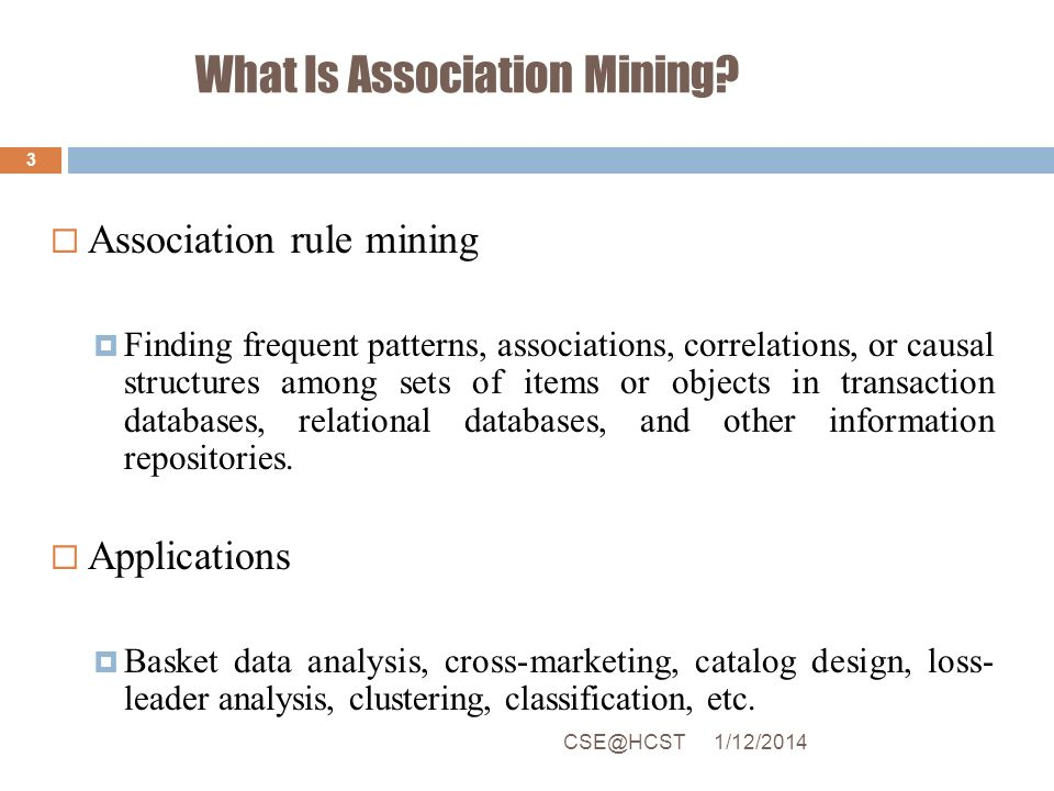 What Is Association Mining