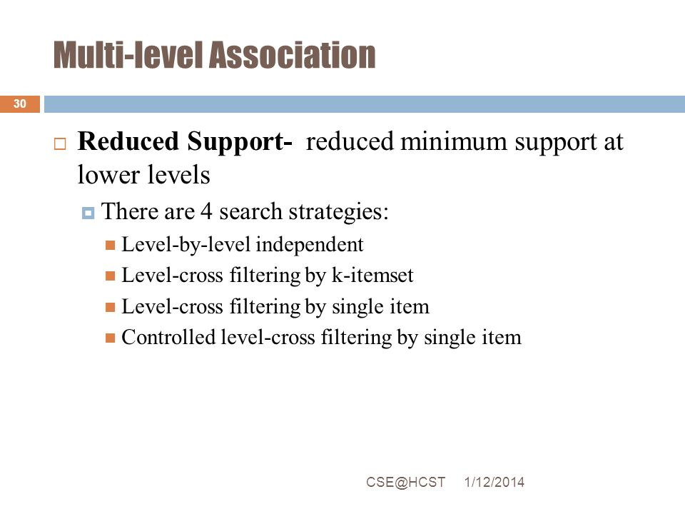 Multi-level Association