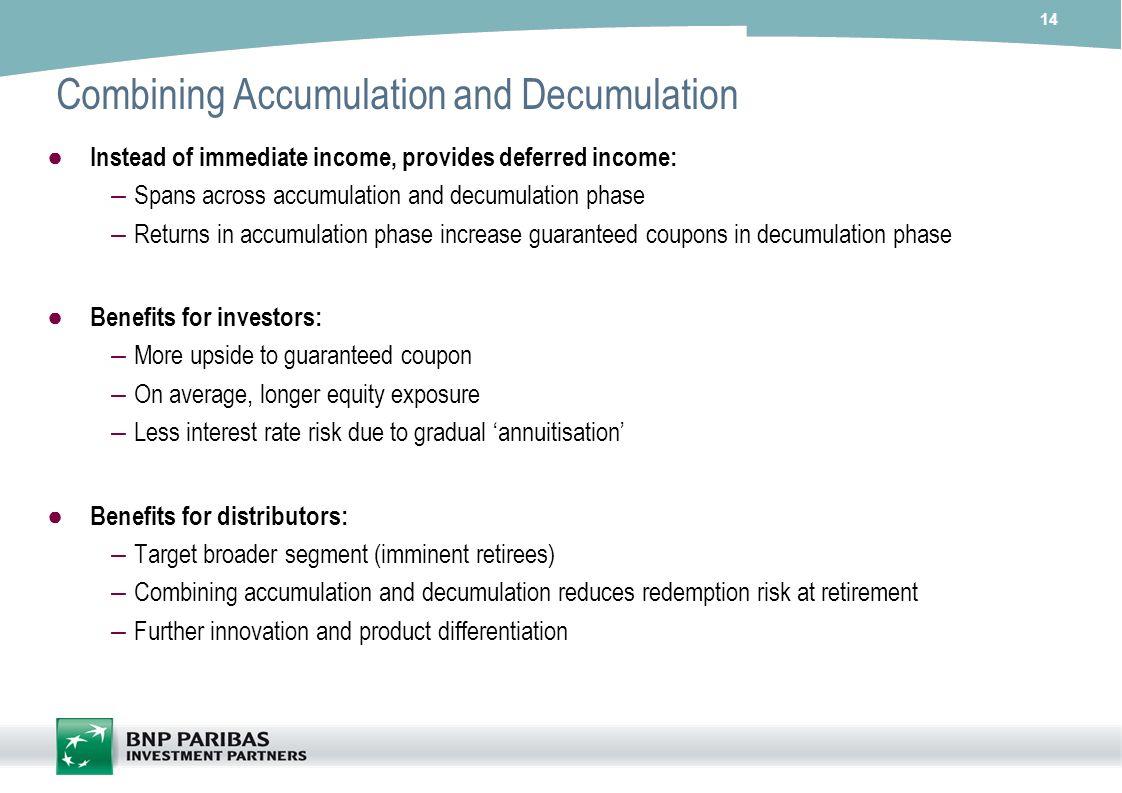 Combining Accumulation and Decumulation
