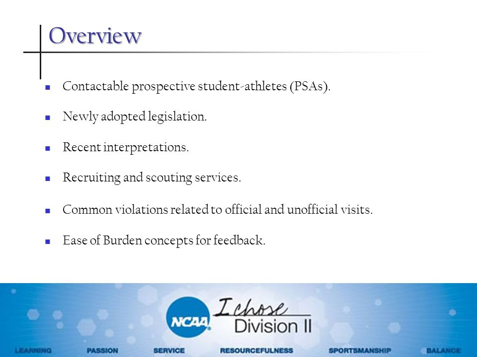 Overview Contactable prospective student-athletes (PSAs).
