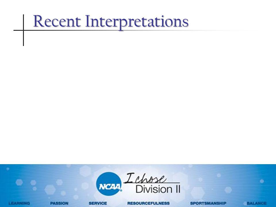 Recent Interpretations