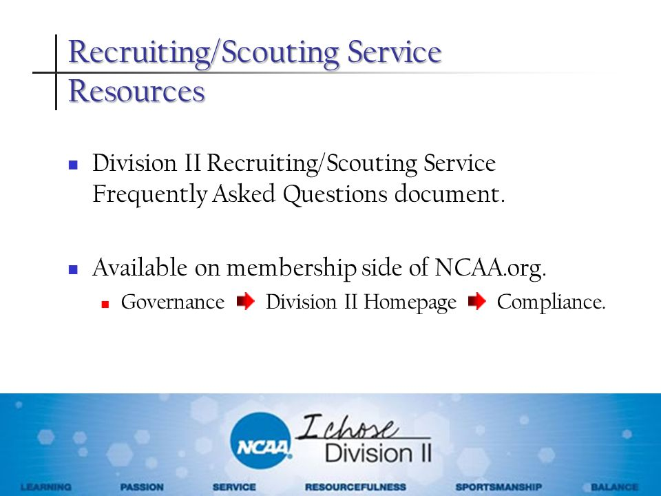 Recruiting/Scouting Service Resources