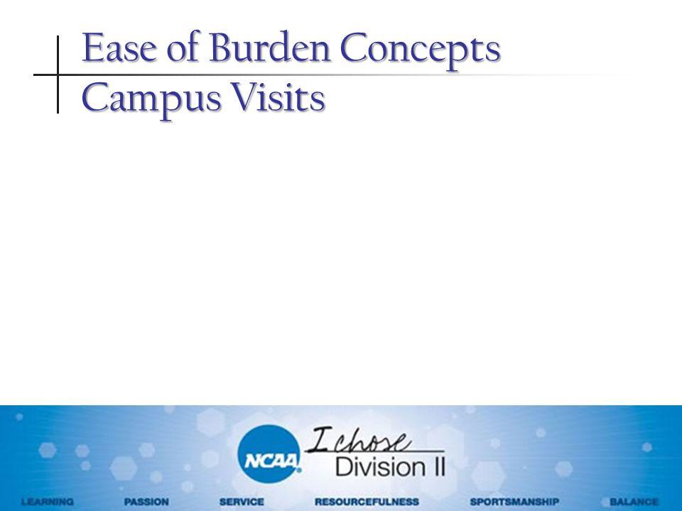 Ease of Burden Concepts Campus Visits