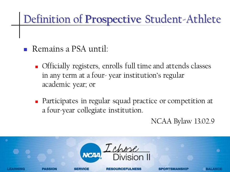 Definition of Prospective Student-Athlete