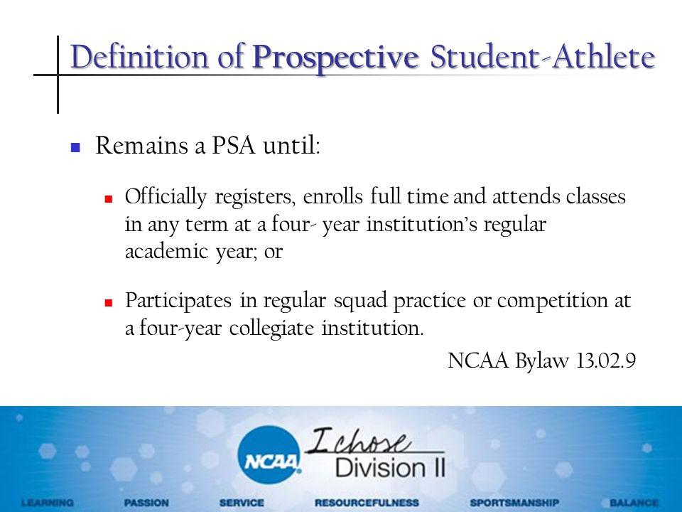 Definition of Prospective Student-Athlete