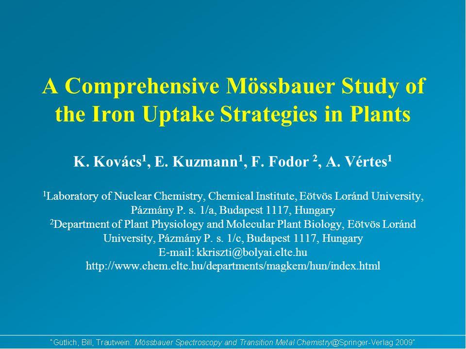 A Comprehensive Mössbauer Study of the Iron Uptake Strategies in Plants K.