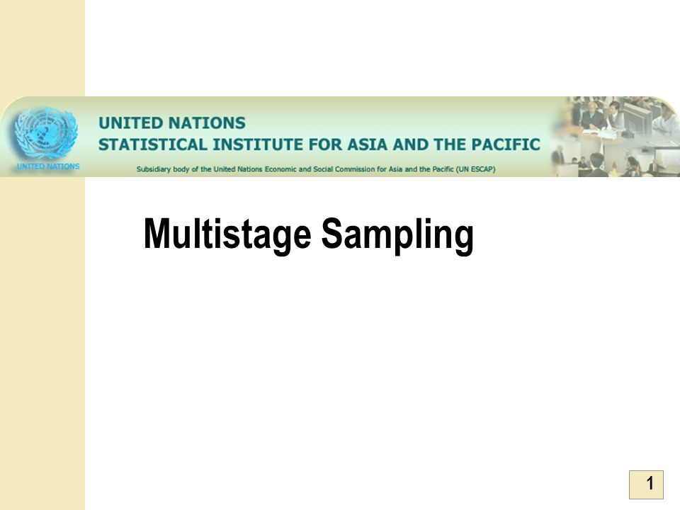 Multistage Sampling