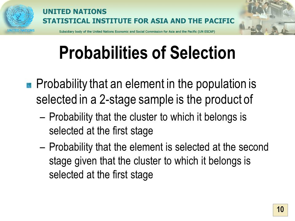 Probabilities of Selection